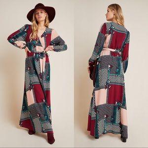 ANTHROPOLOGIE Virginia Wrap Maxi Dress size XS